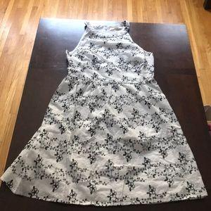 Loft embroidered Halter dress